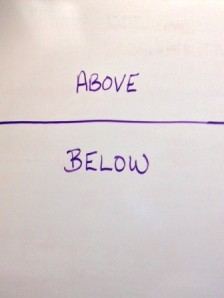 above and below the line