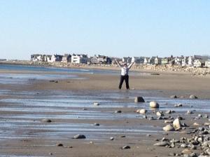 brit on beach