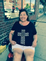 Woman in Faith Shirt