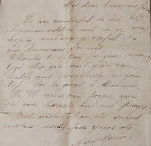 French Letter to American Soldier 2
